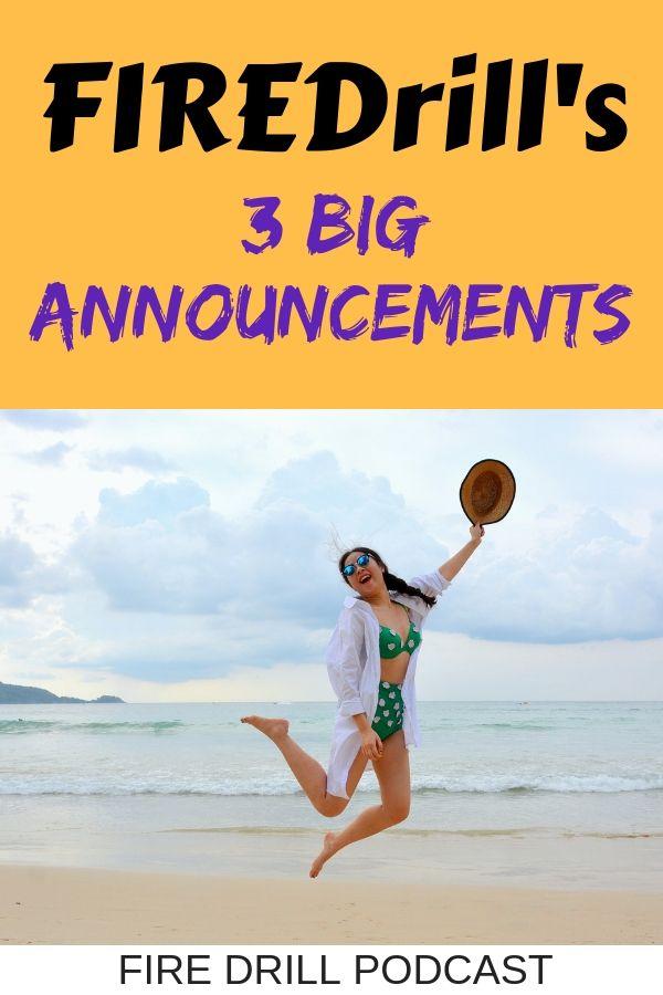 FIREDrill's 3 Big Announcements